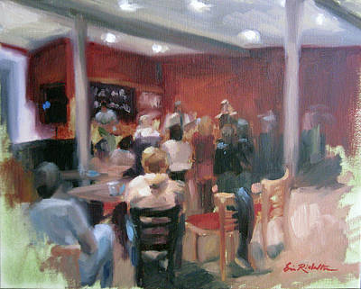 Painting - Cafe' Music by Erin Rickelton