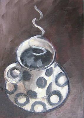 Cafe Noir Print by Susan Richardson