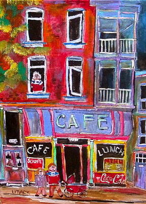 Urbanscene Painting - Cafe Notre Dame by Michael Litvack
