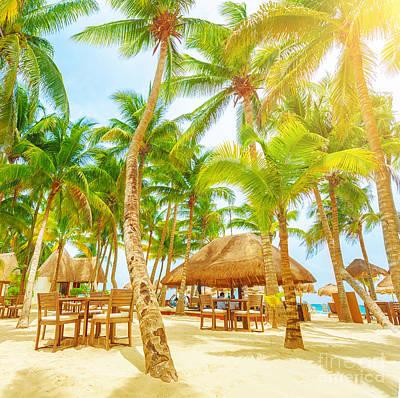 Photograph - Cafe On Tropical Beach  by Anna Om
