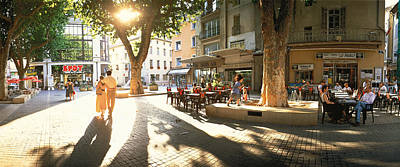 Storefront Photograph - Cafe, Orange, Provence France by Panoramic Images