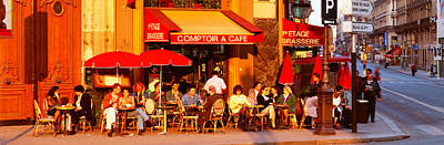 Cafe, Paris, France Art Print by Panoramic Images