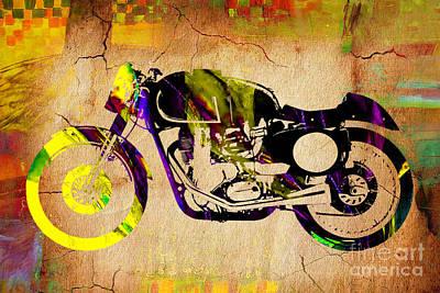 Cafe Racer Motorcycle Art Print