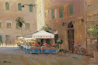 Italian Cafe Painting - Cafe Roma by Allayn Stevens