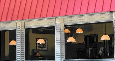 Photograph - Cafe Seaside by Strangefire Art       Scylla Liscombe