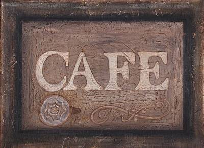 Painting - Cafe Sign by Barbara St Jean