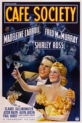Champagne Glasses Photograph - Cafe Society, Us Poster, From Left Fred by Everett