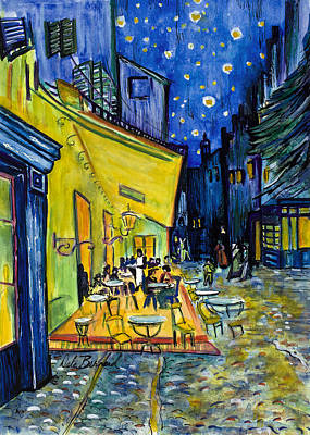 Painting - Cafe Terrace At Night by Dale Bernard