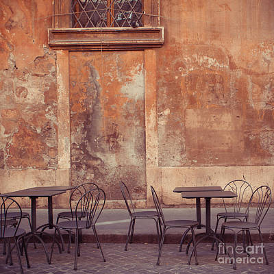 Cafe Terrace In Rome Art Print