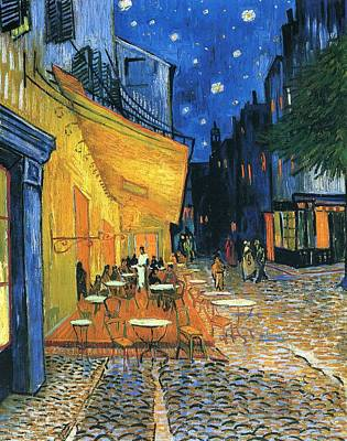 Cafe Terrace Painting - Cafe Terrace Place Du Forum Arles 1888 by Vincent Van Gogh