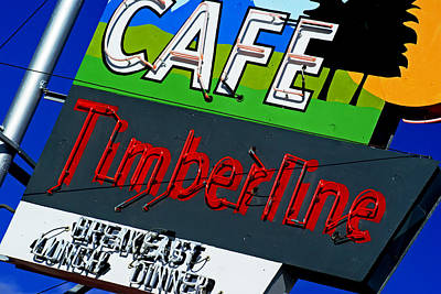 Photograph - Cafe Timberline by Daniel Woodrum