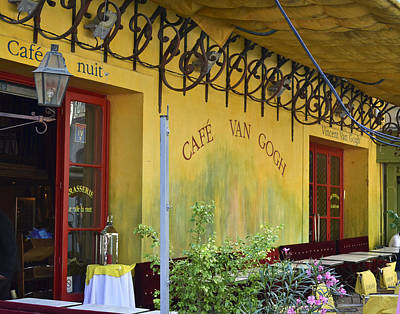 Photograph - Cafe Van Gogh by Allen Sheffield