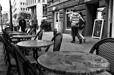 Photograph - Cafe Walk Mono by John Rizzuto