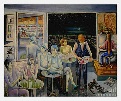Wall Art - Painting - Cafe Wizard by Klaus Grumbach