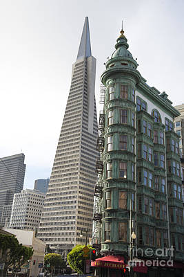 Cafe Zoetrope And Transamerica Bldg Art Print by David Bearden
