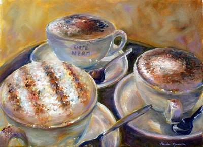 Caffe Nero Art Print by Bonnie Goedecke
