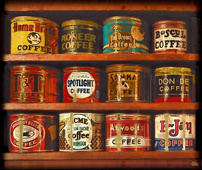 Espresso Painting - Caffe Retro No. 1 by Douglas MooreZart