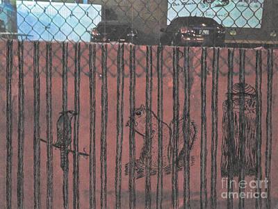 Mockingbird Drawing - Caged Animals by David Heid