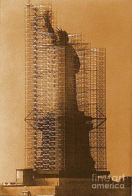 Photograph - New York Lady Liberty Statue Of Liberty Caged Freedom by Michael Hoard