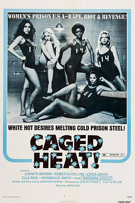 1970s Movies Photograph - Caged Heat, Us Poster, Clockwise by Everett