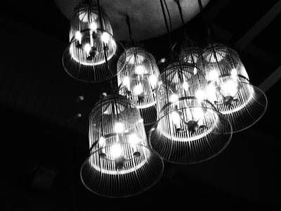 Caged Lights Print by Justin Woodhouse