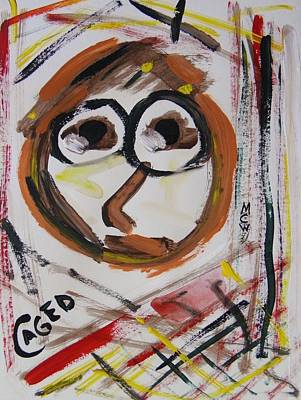 Abstract Expressionism Drawing - Caged by Mary Carol Williams