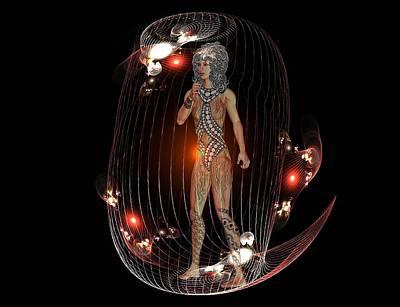 Digital Art - Caged by Nancy Pauling