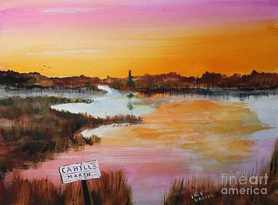 Jack Brauer Painting - Cahills Marsh by Jack G  Brauer