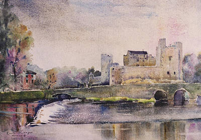 Cahir Castle Weir County Tipperary Art Print by Keith Thompson