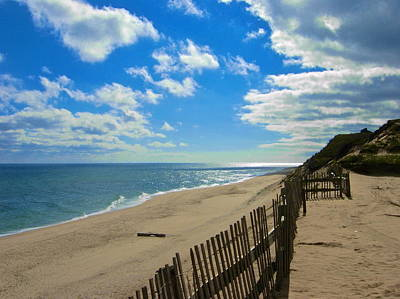 Cahoon Hollow Beach Art Print by Amazing Jules