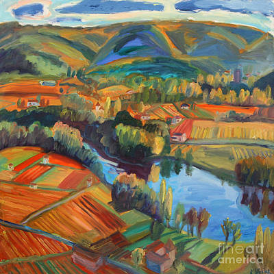 Painting - Cahors Vineyards  by Katia Weyher