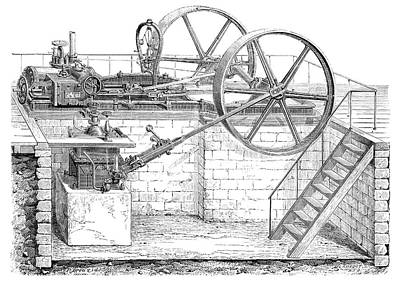 Boiler Photograph - Cail Steam Engine by Science Photo Library