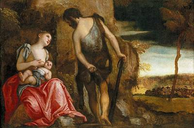 Cain Painting - Cain As A Fugitive With His Family by Paolo Veronese
