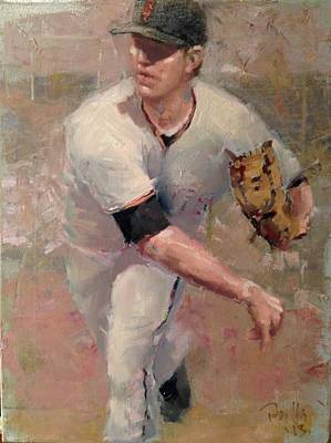 Baseball Painting - Cain Delivery by Darren Kerr
