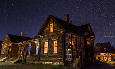 Haunted House Photograph - Cain House At Night by Cat Connor