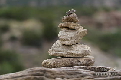 Macro Photograph - Cairn  by Ashley M Conger