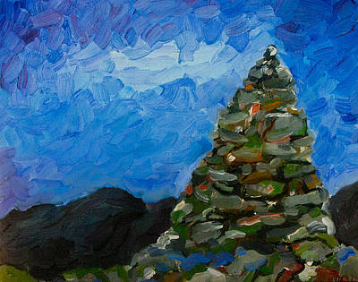 Painting - Cairn At Twilight by Rick Carbonell
