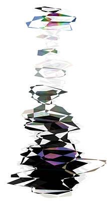 Megalith Digital Art - Cairn by Daniel Hagerman