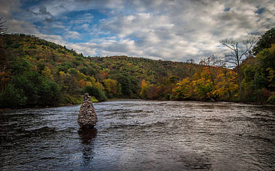Photograph - Cairn On The River by Anthony Thomas