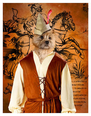 Painting - Cairn Terrier Art Canvas Print - Hunter by Sandra Sij