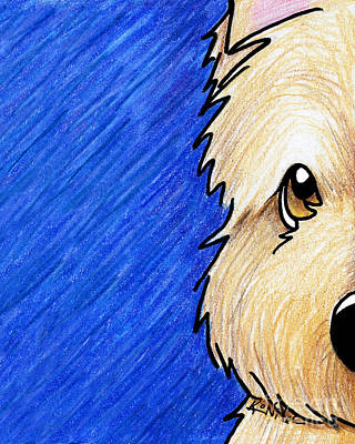 Cairn Terrier Up Close Art Print by Kim Niles