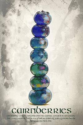 Meditative Digital Art - Cairnberries 1 by Scott Campbell