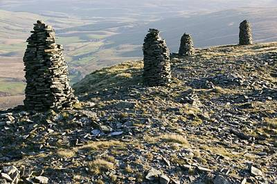 Boar Photograph - Cairns On Wild Boar Fell by Ashley Cooper