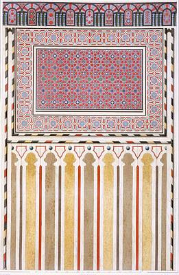 Mosaic Drawing - Cairo Decoration Of The El Bordeyny by Emile Prisse d'Avennes