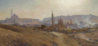 Mist Painting - Cairo Mist Dust And Fumes Evening by Etienne Dinet