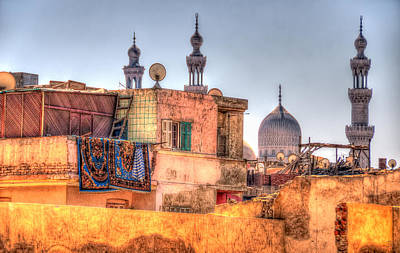 Photograph - Cairo Skyline by Nigel Fletcher-Jones
