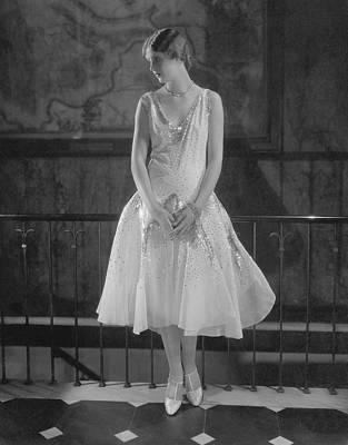 Studio Art Jewelry Photograph - Caja Eric Wearing An Evening Dress by Edward Steichen