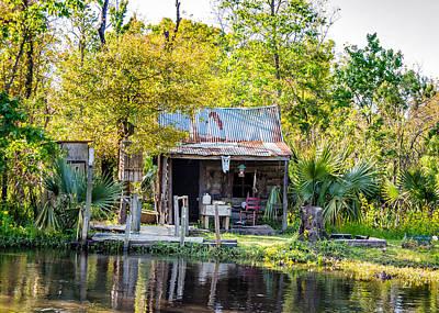Cypress Swamp Photograph - Cajun Cabin by Steve Harrington