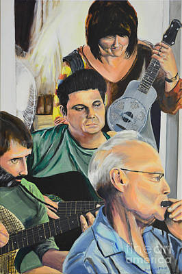 Painting - Cajun Jam Band by Jock McGregor