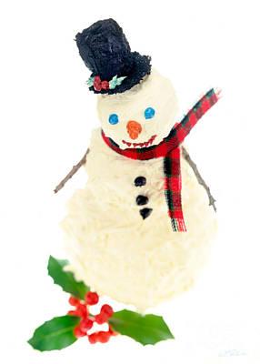Cake Snowman Art Print